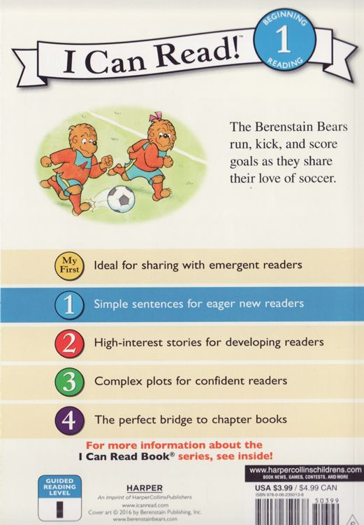 Berenstain Bears We Love Soccer I Can Read Book Level 1