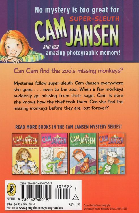 Mystery at the Monkey House ( Cam Jansen #10 )