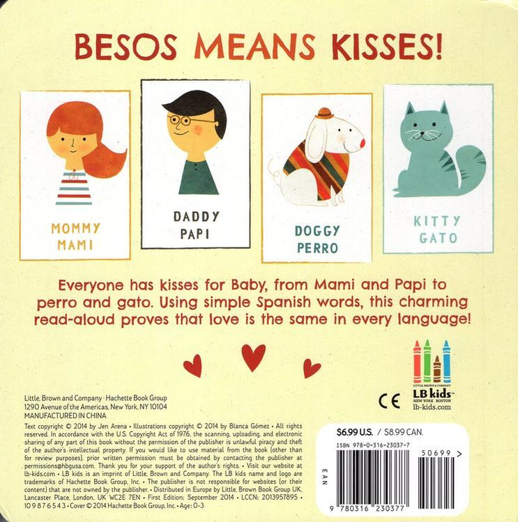 Besos for Baby: A Little Book of Kisses (Board Book)