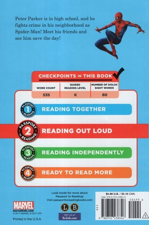 SpiderMan: Homecoming: Meet Spidey ( Passport to Reading