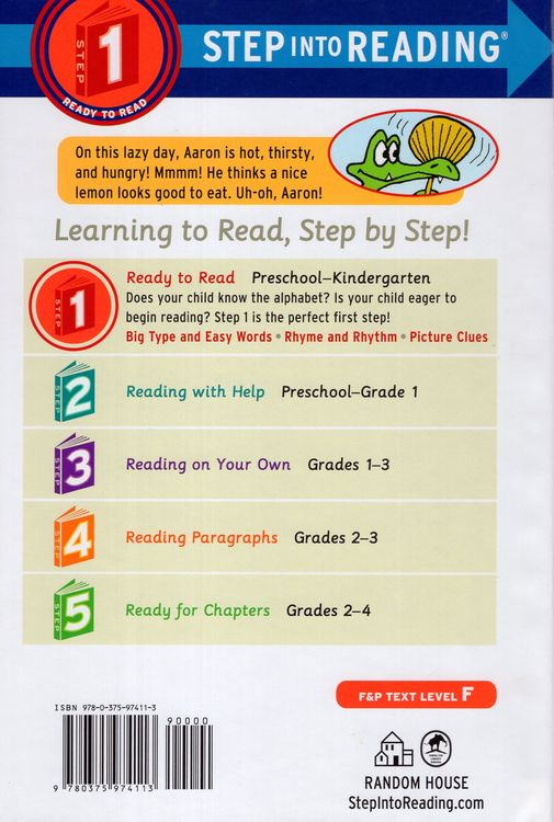 Aaron Has a Lazy Day ( Step Into Reading Step 1 )
