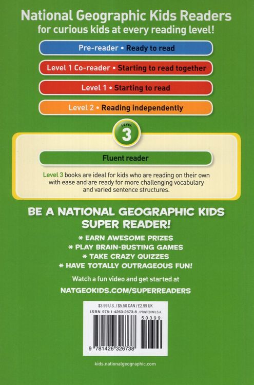 walt disney  national geographic kids readers level 3