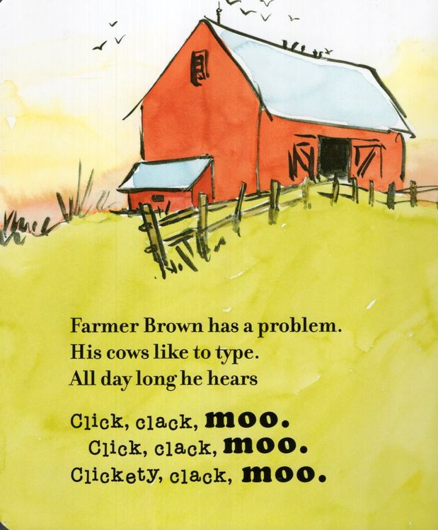 Click Clack Moo Cows That Type Board Book