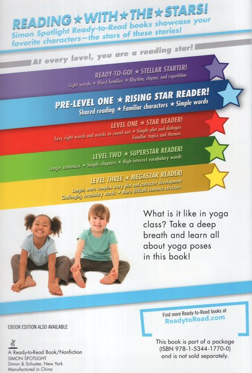 My First Yoga Class Ready To Read Level Pre 1 B