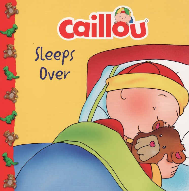 Caillou Sleeps Over ( Caillou Clubhouse ) (8x8)