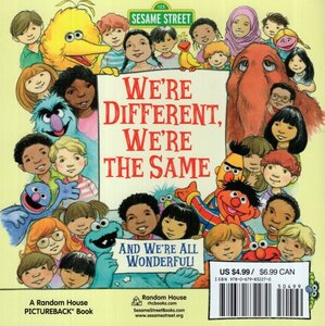 We're Different We're the Same and We're all Wonderful ( Sesame Street ) (8X8)